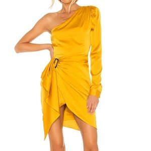 Lovers + Friends Ana dress in yellow